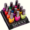 SHANY Tropical Collection Nail Polish Set - 12 Island-Inspired Shades - TROPICAL - ITEM# SH-SHNN-7 - The SHANY Tropical Collection Nail Polish Set contains 12 island-inspired shades in bright and neon colors. These colorful, trend-setting shades in full size bottles are made with a high-quality and long-lasting formul