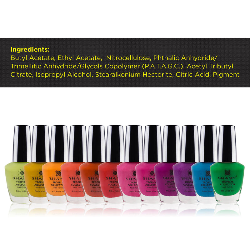 SHANY Tropical Collection Nail Polish Set - TROPICAL - ITEM# SH-SHNN-7 - Best seller in cosmetics NAIL POLISH category