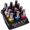 SHANY Edgy Collection Nail Polish Set - 12 Rebellious, Metallic Shades - EDGY - ITEM# SH-SHNN-8 - The SHANY Edgy Collection Nail Polish Set contains 12 rebellious shades neutral and bright hues. These metallic, trend-setting shades in full size bottles are made with a high-quality and long-lasting formula. Each shade