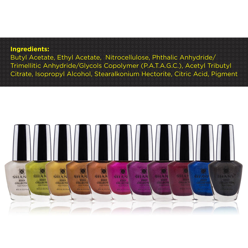 SHANY Edgy Collection Nail Polish Set - EDGY - ITEM# SH-SHNN-8 - Best seller in cosmetics NAIL POLISH category