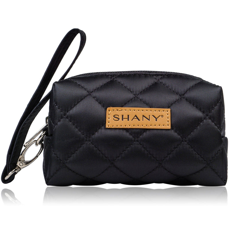 SHANY Limited Edition Mini Tote Bag - Black - BLACK - ITEM# SH-TOTEBAG-BK - Tote bags women fashion teacher kid zipper pocket,Stylish wedding supplies mini travel makeup work,Michael kors kate spade aldo vera bradley trendy,Plain handbag zippered organizer shoulder purse,Professional messenger cheap plastic luxury big - UPC# 810028460294