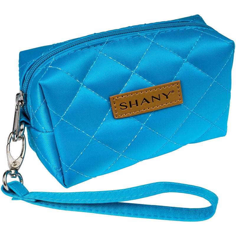 SHANY Limited Edition Mini Tote Bag and Travel Makeup Bag, Ocean Blue - SHOP BLUE - TOTE BAGS - ITEM# SH-TOTEBAG-BL