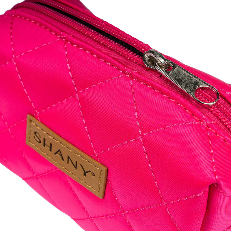 SHANY Limited Edition Mini Tote Bag and Travel Makeup Bag, Coral - PINK - ITEM# SH-TOTEBAG-PK - Stay organized while traveling. This travel makeup bag is perfectly shaped to fit securely into your suitcase and purse. Made out of nylon with a zip-around top, this bag will hold your favorite beauty products and bath nec
