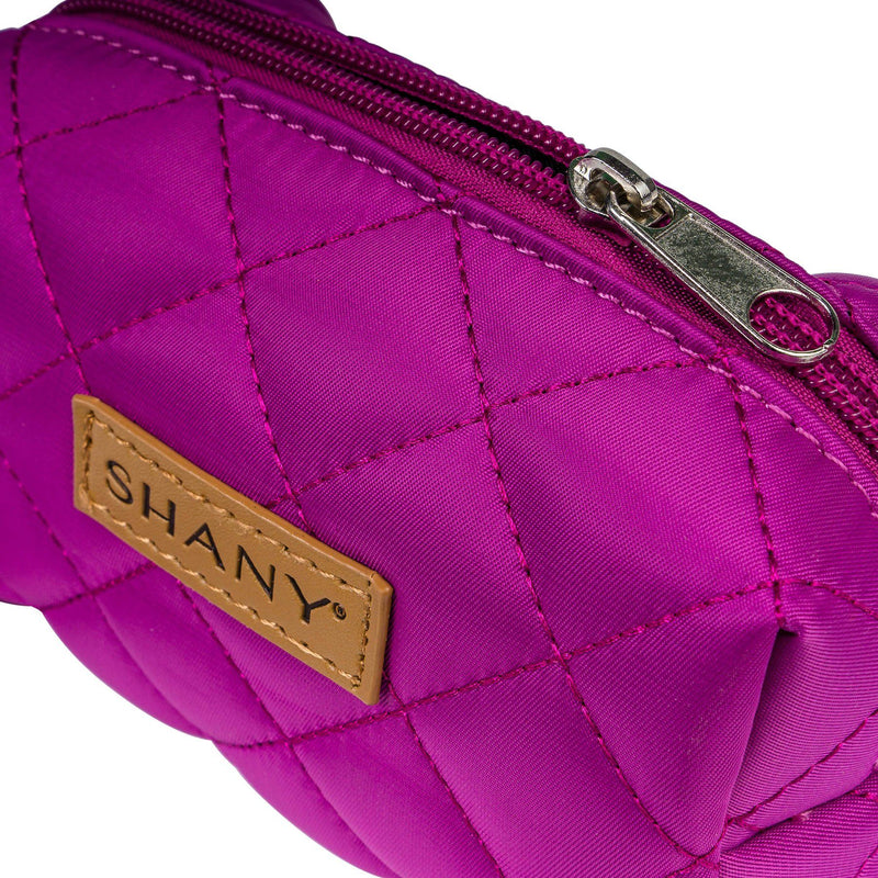 SHANY Limited Edition Mini Tote Bag and Travel Makeup Bag, Violet - PURPLE - ITEM# SH-TOTEBAG-PR - Stay organized while traveling. This travel makeup bag is perfectly shaped to fit securely into your suitcase and purse. Made out of nylon with a zip-around top, this bag will hold your favorite beauty products and bath