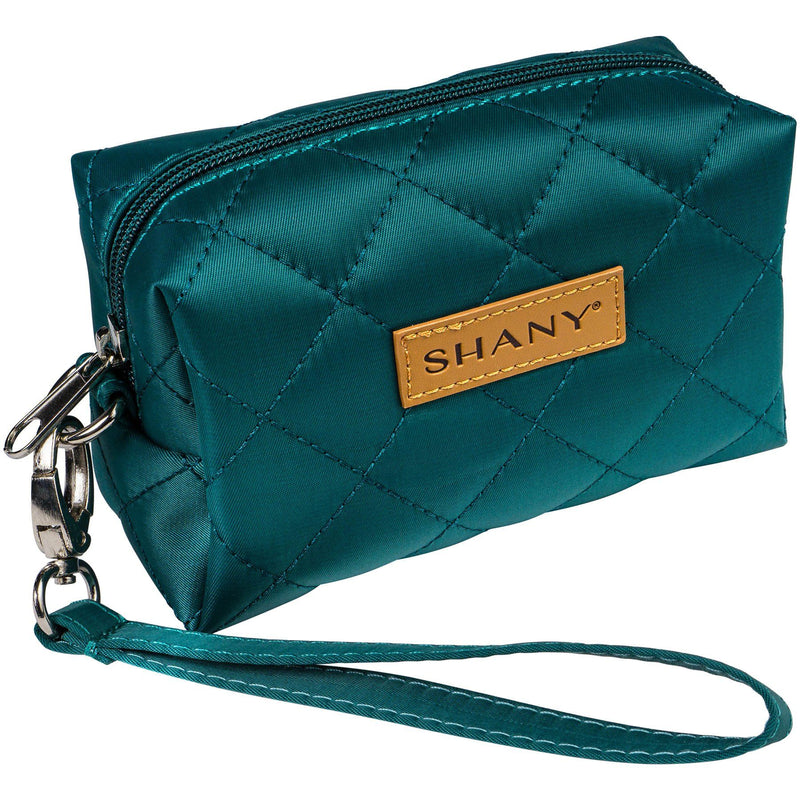 SHANY Limited Edition Mini Tote Bag and Travel Makeup Bag, Turquoise - SHOP TURQUOISE - TOTE BAGS - ITEM# SH-TOTEBAG-TR