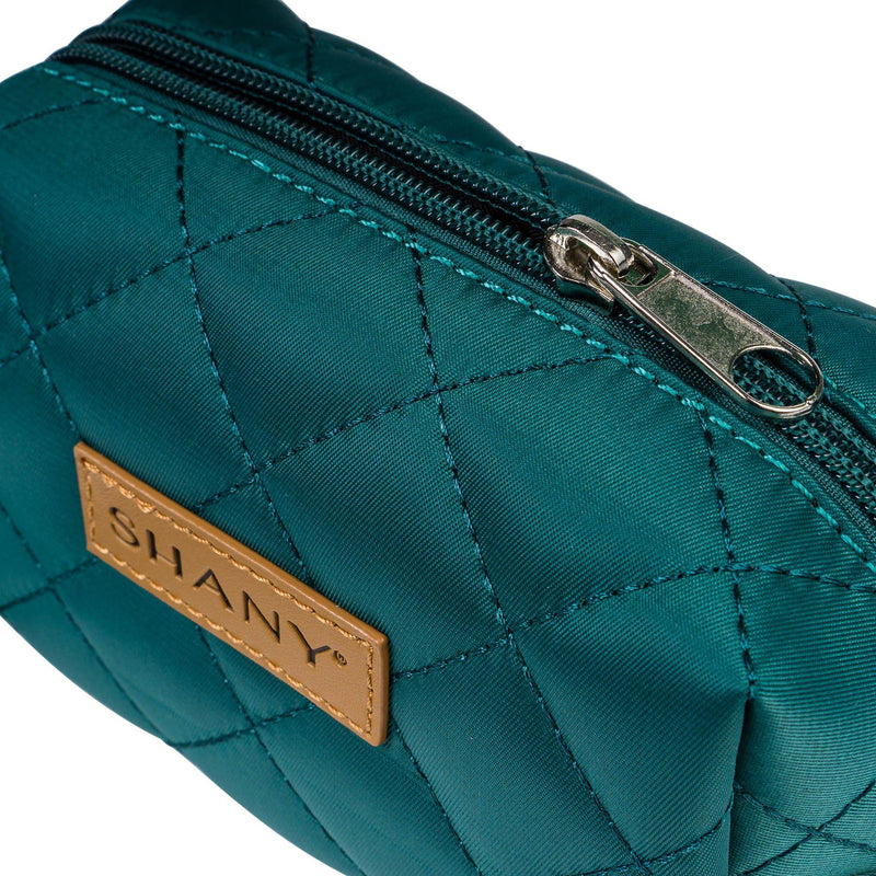 SHANY Limited Edition Mini Tote Bag and Travel Makeup Bag, Turquoise - TURQUOISE - ITEM# SH-TOTEBAG-TR - Stay organized while traveling. This travel makeup bag is perfectly shaped to fit securely into your suitcase and purse. Made out of nylon with a zip-around top, this bag will hold your favorite beauty products and