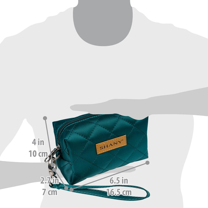 SHANY Limited Edition Mini Tote Bag - Turquoise - TURQUOISE - ITEM# SH-TOTEBAG-TR - Best seller in cosmetics TOTE BAGS category