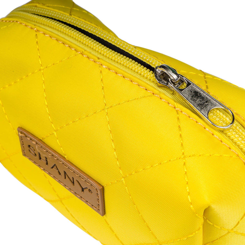 SHANY Limited Edition Mini Tote Bag and Travel Makeup Bag, Blonde - YELLOW - ITEM# SH-TOTEBAG-YL - Stay organized while traveling. This travel makeup bag is perfectly shaped to fit securely into your suitcase and purse. Made out of nylon with a zip-around top, this bag will hold your favorite beauty products and bath