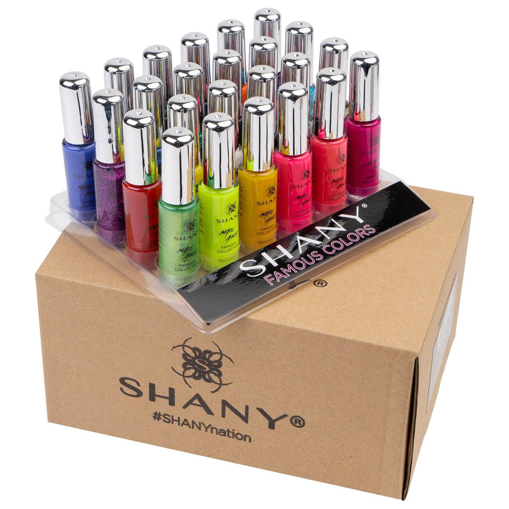SHANY Nail Art Set-24 Famous Colors Nail Polish -  - ITEM# SH0024NP-01 - Wholesale nail care polish sets woman waterproof,Opi Nailpolish Long lasting quick dry best lacquer,Essie Varnish Manicure Pedicure kits tools girls,Glittering glossy shimmer favorite cheap expensive,accessory fingernail paints work wedding party top - UPC# 738345230836
