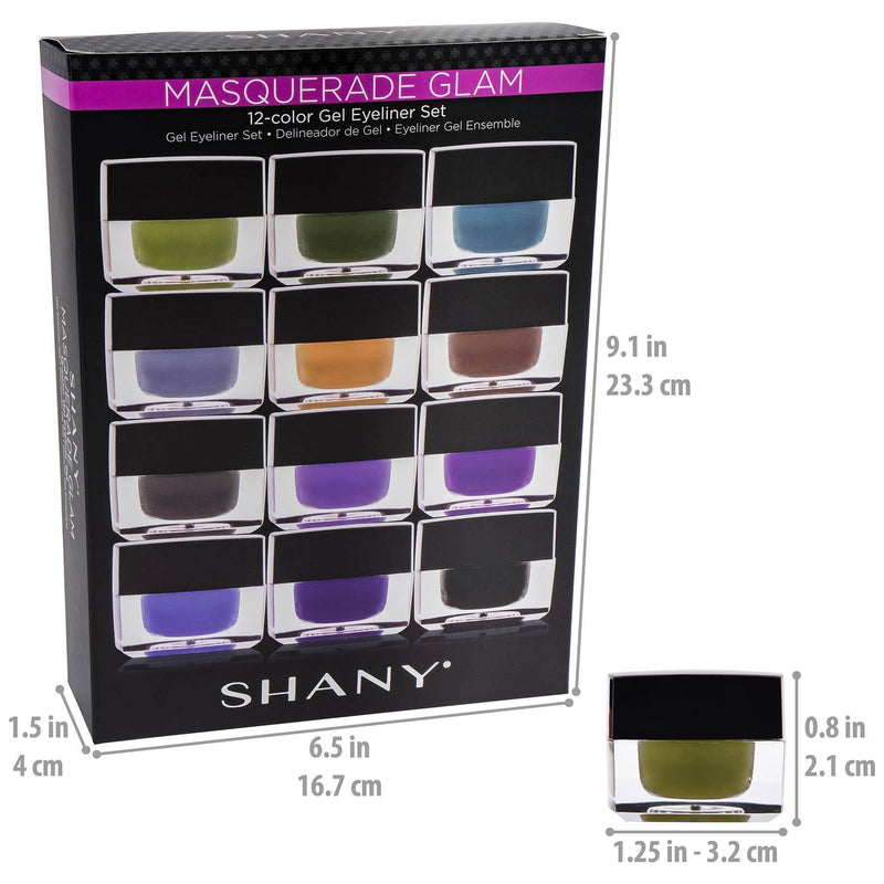 Masquerade Smudge Proof Gel Liner Set -  - ITEM# SH00GEL-SET01 - Best seller in cosmetics EYELINER category