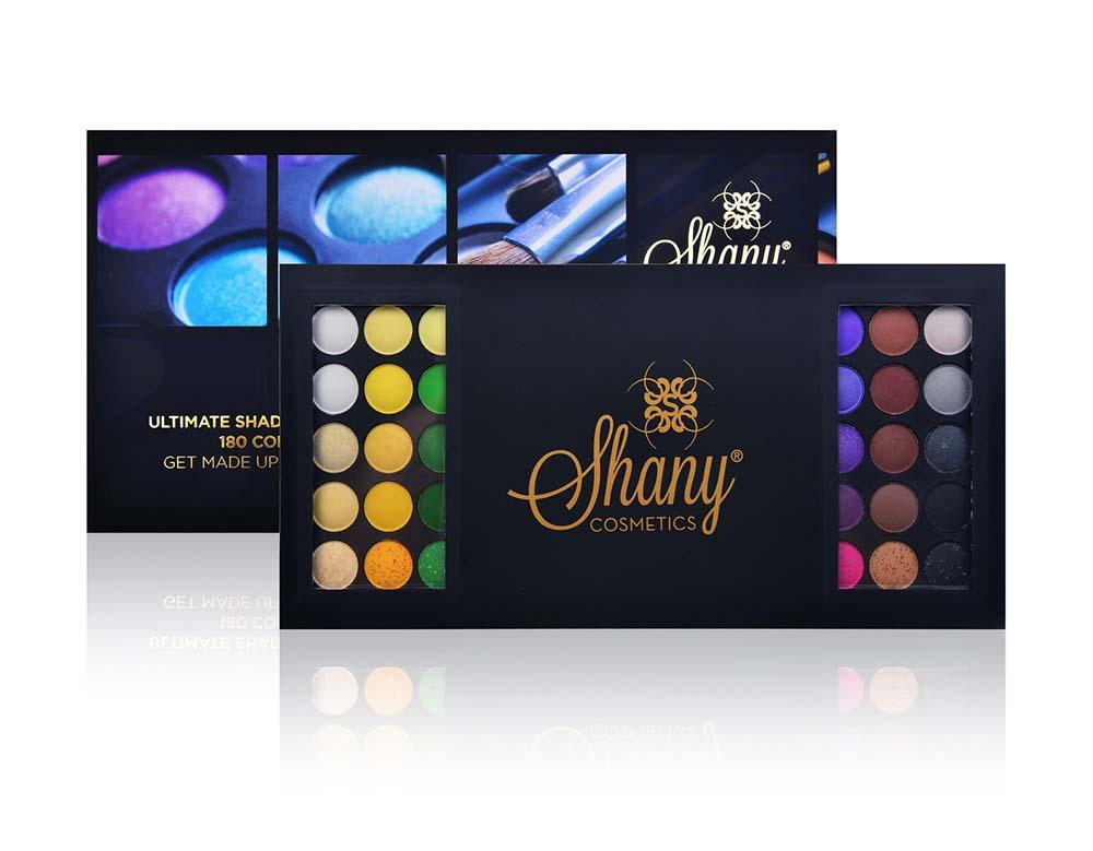 SHANY 180 Color Eye shadow-United Colors of SHANY -  - ITEM# SH180S - Multicolor eye makeup palettes glitter eyeshadow,Cream color professional women salon accessories,Maybelline morphe mac nyx revlon loreal elf milani,Cosmetics casual party powder smoky matte shimmer,Wedding dark blending natural hypoallergenic cheap - UPC# 738435230814