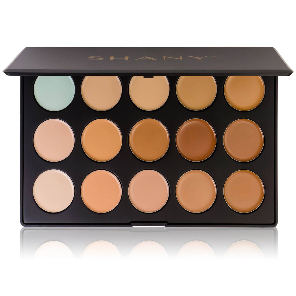 Professional Cream Foundation and Camouflage Concealer - 15 Color Palette - SHANY