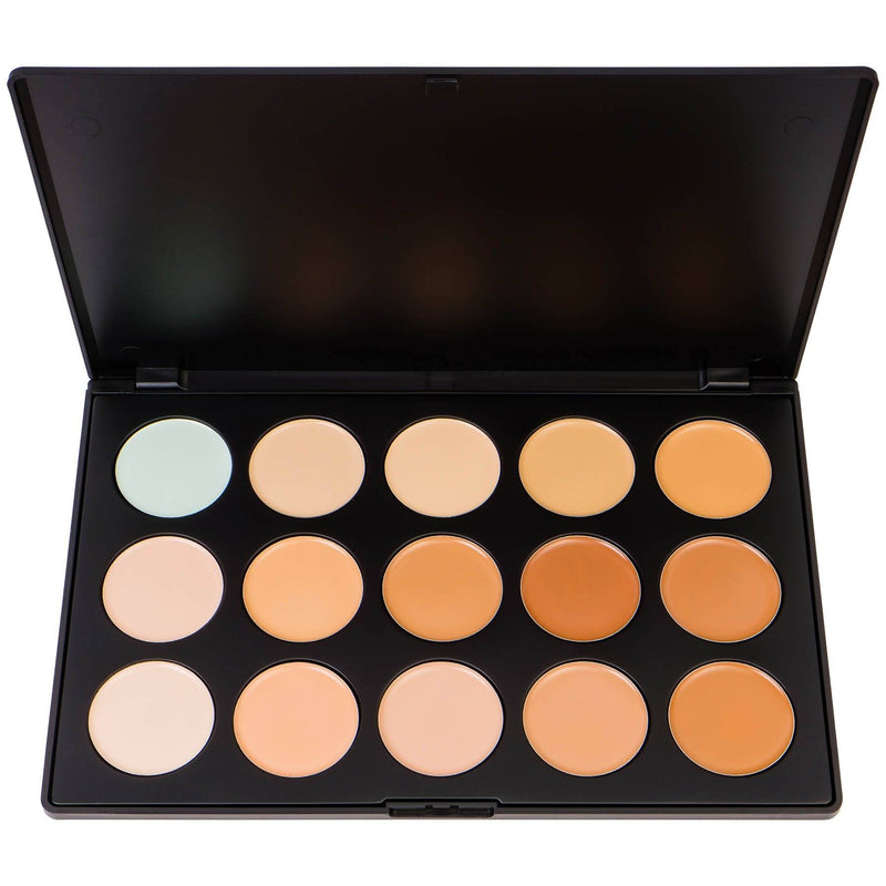 SHANY Professional Cream Foundation and Camouflage Concealer - 15 Color Palette -  - ITEM# SHANY0015 - Tired of unwanted flaws, don't worry everyone have those, but the solution is simple. Try the new Foundation/Concealer palette and say hello to your new look. Get the full coverage you always expected from new Shany