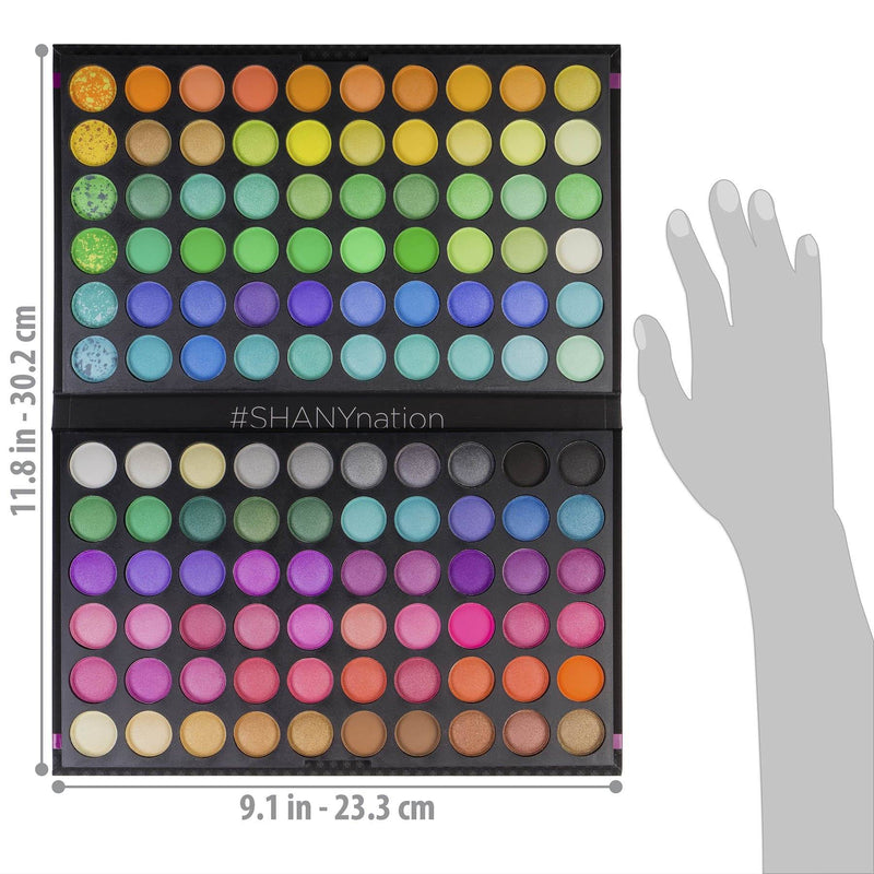 120 Colors Eye shadow Palette -  - ITEM# SHANY120 - Best seller in cosmetics EYE SHADOW SETS category