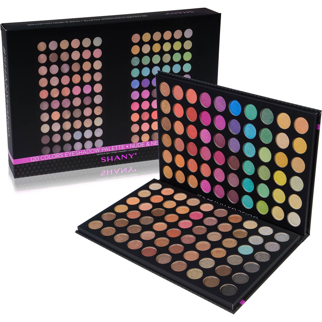 SHANY Ultimate Fusion - 120 Color Eye Shadow Palet -  - ITEM# SHANY120S - Multicolor eye makeup palettes glitter eyeshadow,Cream color professional women salon accessories,Makeup set, kids makeup, teen makeup, unicorn set,Make up kit, makeup palette, mermaid makeup set,holiday gift cosmetics box train case gift set kit - UPC# 738435230906