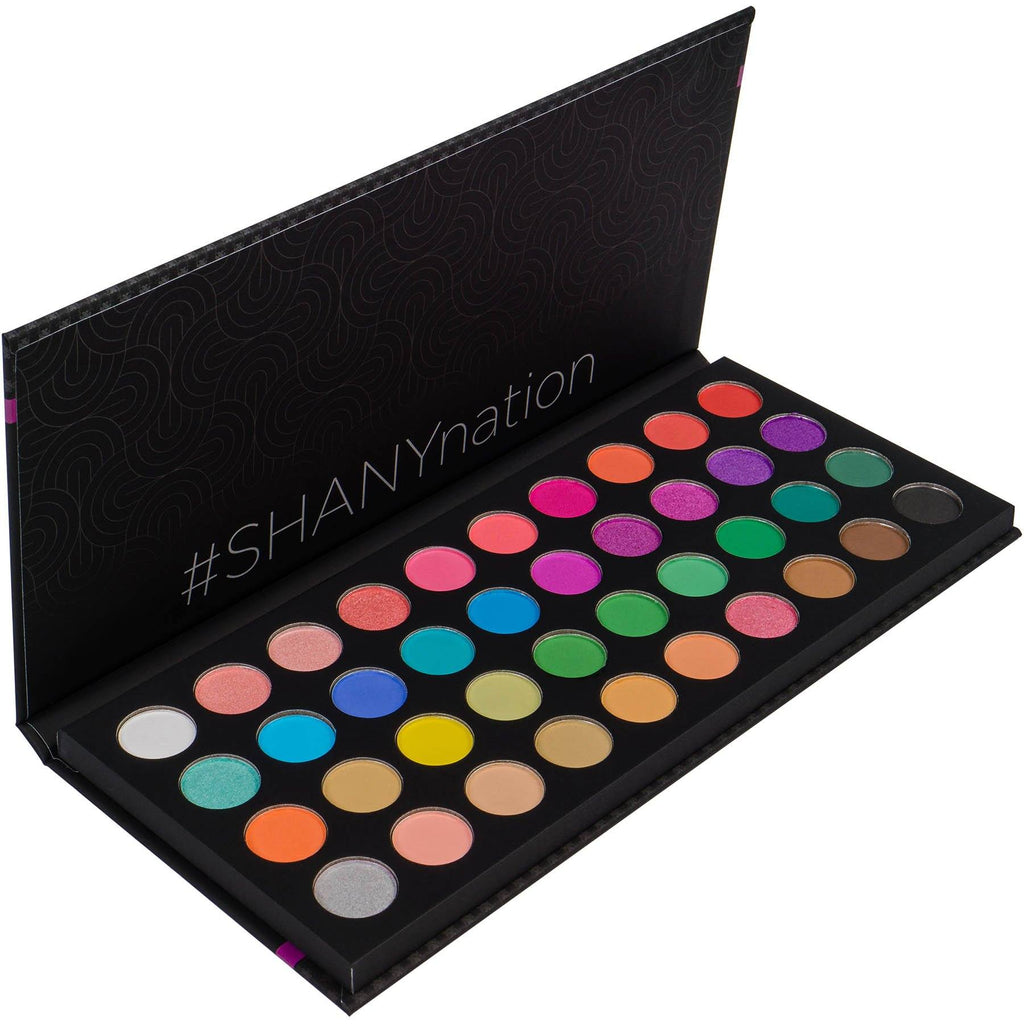 SHANY Boutique 40 color palette -  - ITEM# SHANY40 - Multicolor eye makeup palettes glitter eyeshadow,Cream color professional women salon accessories,Makeup set, kids makeup, teen makeup, unicorn set,Make up kit, makeup palette, mermaid makeup set,holiday gift cosmetics box train case gift set kit - UPC# 753182051567