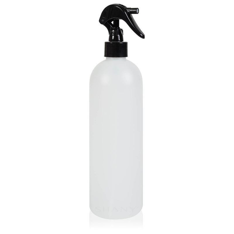 SHANY Plastic Bottle with Black Mini Trigger Sprayer - 16 oz - SHOP 16 OZ - CONTAINERS - ITEM# SHG-PLTR16OZ-WH