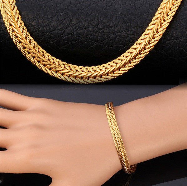 Rock Style Snake Chain 18K Gold/Platinum Plated Bracelet
