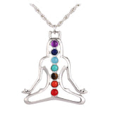 7 Chakras Natural Healing Stone Necklace
