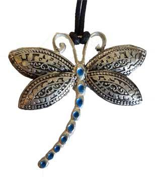 Dragonfly With Blue Tail Amulet