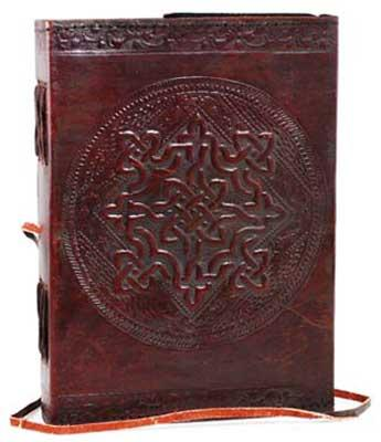 Celtic Knot Leather Blank Book W- Cord