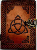 "5"" X 7"" Triquetra Leather W- Latch"