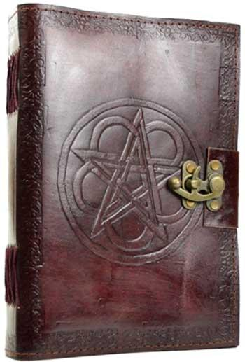 Pentagram Leather Blank Book W- Latch