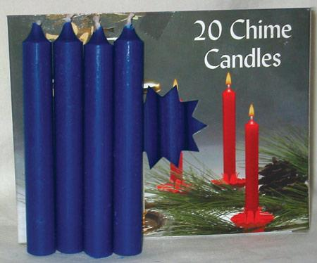 "1-2"" Dark Blue Chime Candle 20 Pack"