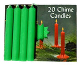 "1-2"" Emerald Green Chime Candle 20 Pack"