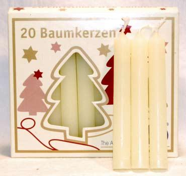 "1-2"" Ivory Chime Candle 20 Pack"