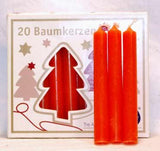 "1-2"" Orange Chime Candle 20 Pack"