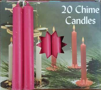 "1-2"" Pomegranate Chime Candle 20 Pack"