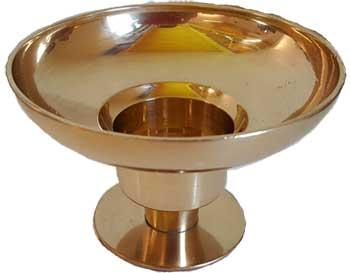 "Brass Universal Candle Holder 4 1-4"" Dia"
