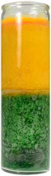 2 Color 7-day Gold- Green Jar Candle
