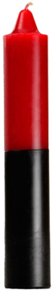 "9"" Red- Black Pillar Candle"
