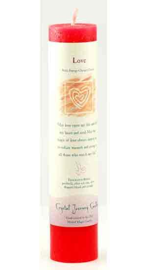 Love Reiki Charged Pillar Candle