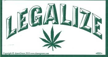 Legalize Marijuana Bumper Sticker