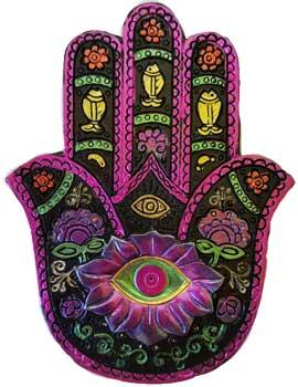 Black & Fuschia Hamsa Hand Box