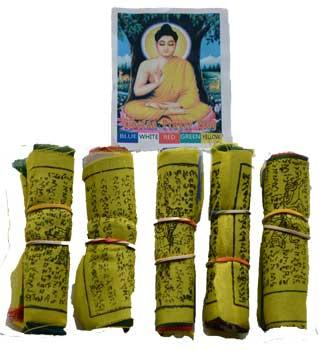 "3"" Tibetan Prayer Flag (5-pack)"