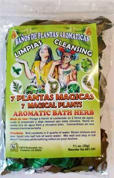 1 1-4oz 7 Magical Plants Aromatic Bath Herb