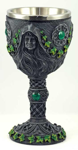 Maiden, Mother & Crone Chalice 7 1-2""