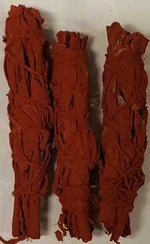 Dragon's Blood Sage Smudge Stick 3-pack 4""