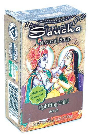 3.5oz Uplifting Tulsi Saucha Soap