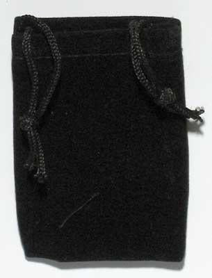 Black Velveteen Bag