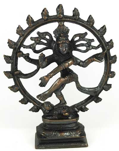 Antiqued Bronze Shiva Dancing Statue