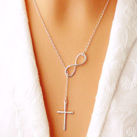 Christian Infinity Cross Pendant Necklace