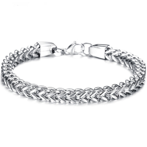 Classic 316L Stainless Steel Link Chain Bracelet