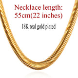 Snake Chain 18K Gold Plated Stainless Steel Necklace