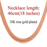 Unique 18K Gold/Rose Gold/Platinum Plated Snake Chain Necklace