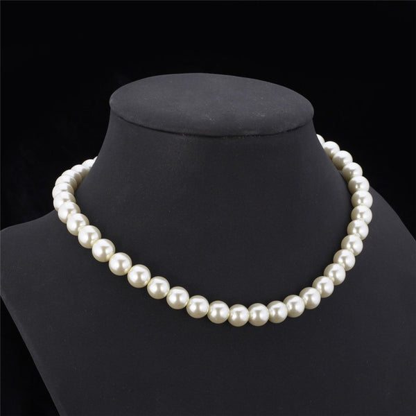Black/White Pearl Choker Necklace